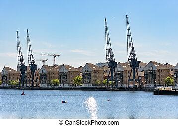 dock, maisons, victoria, londres, royal