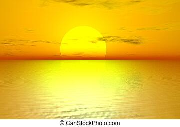 doré, levers de soleil