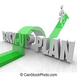 dos, haut, personne court, plan, éventualité, changement, adapter