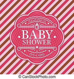 douche bébé, carte, invitation