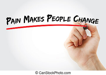 douleur, marques, changement, gens