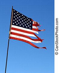 drapeau, lambeaux
