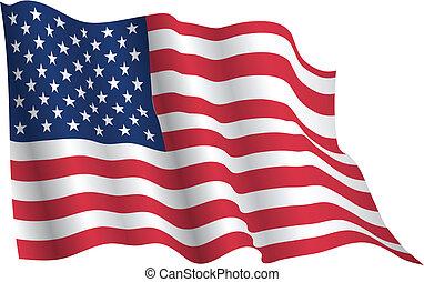 drapeau ondulant, usa