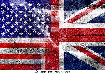 drapeau, usa, royaume-uni
