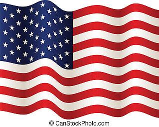 drapeau, vecteur, usa