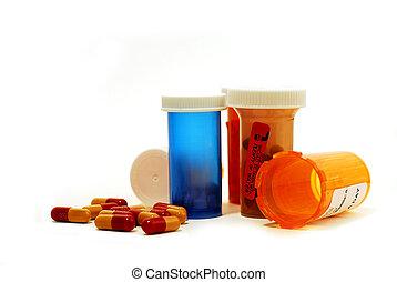 drogues, blanc, pilules