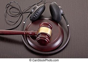 droit, musique, copie, droit & loi