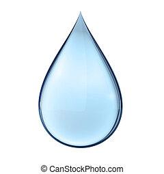eau, blanc, goutte, 3d