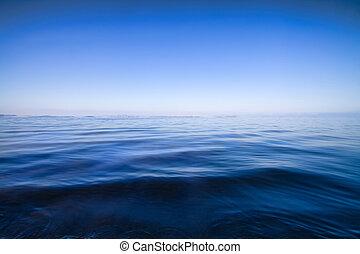 eau bleue, résumé, fond, marine