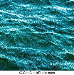 eau, mer, fond, vague