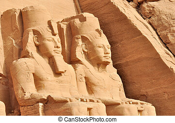 egypte, grand, simbel, abu, temple