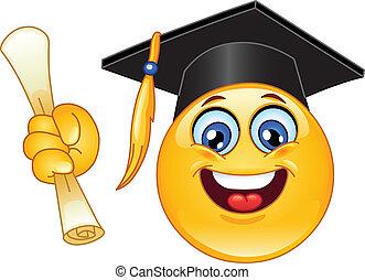 emoticon, remise de diplomes