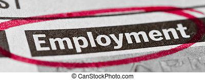 emploi, bannière