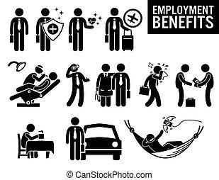 emploi, métier, avantages