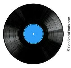 enregistrement, rouges, vinyle, étiquette