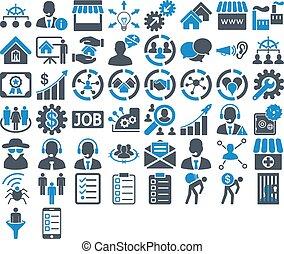 ensemble, icône, business