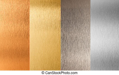 ensemble, or, métal, nonferrous, argent, bronze
