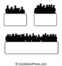ensemble, silhouette, illustration, gens