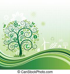 environnement, fond, nature