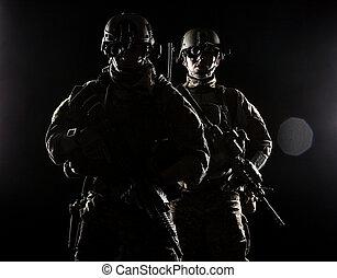 etats, gardes forestiers, uni, armée