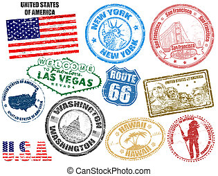 etats, timbres, uni, amérique