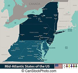 etats, uni, atlantique, mi