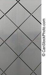 extérieur, feuilles, bâtiment, -, diamant, métal, cladding
