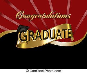 félicitations, graphique, diplômé
