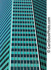 façade, bâtiment, tour, nouveau