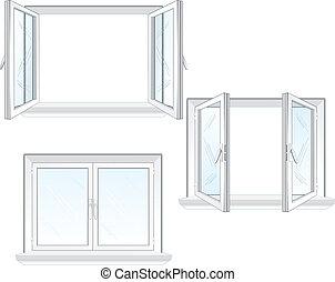 fenêtre, plastique