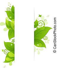 feuilles, gouttes, naturel, fond