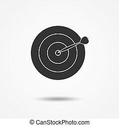 flèche, vecteur, cible