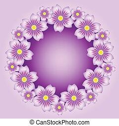 floral, fond, vecteur, illustration