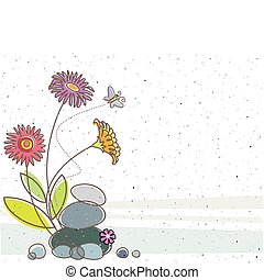 floral, papillon