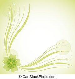 floral, résumé, fond, vecteur, illustration