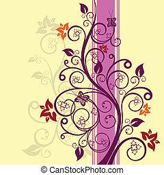 floral, vecteur, conception, illustration