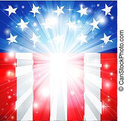 fond, américain, patriotique, drapeau