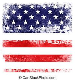fond, thème, drapeau, texture, usa