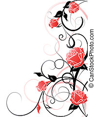 fond, vecteur, rose