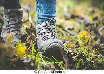 forêt, chaussures