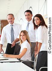formation, moderne, bureaux, business
