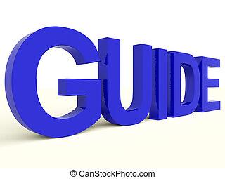 formation, mot, symbole, ou, guide, direction