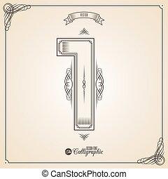 fotn, frontière, cadre, calligraphic, symboles, éléments, conception, invitation