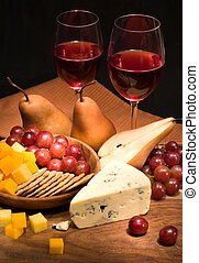 fromage, vin