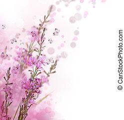 frontière florale, beau