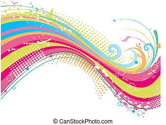 froussard, coloré, fond