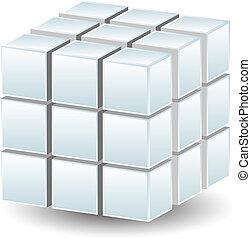 géométrique, cube