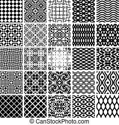 géométrique, ensemble, patterns., seamles