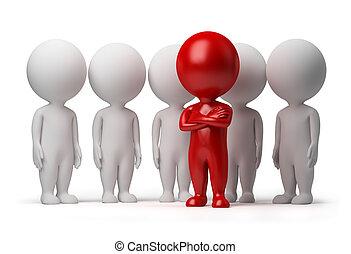 gens, -, équipe, petit, éditorial, 3d