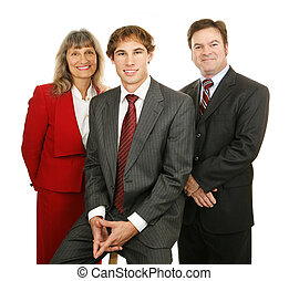 gens, amical, business